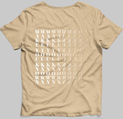 MYK  tan pocket-style t-shirt