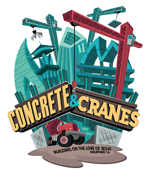 Color logo of Construction and Cranes, the VBS theme.